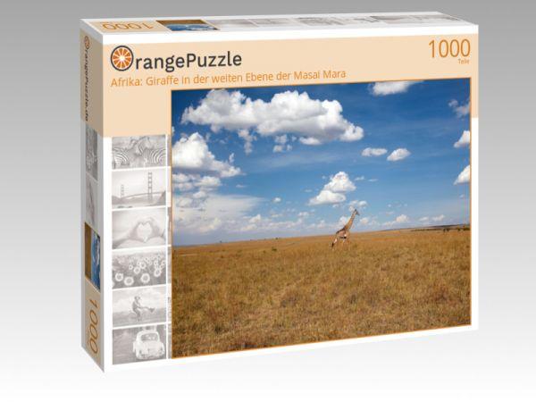 """Puzzle Motiv """"Afrika: Giraffe in der weiten Ebene der Masai Mara"""" - Puzzle-Schachtel zu 1000 Teile Puzzle"""
