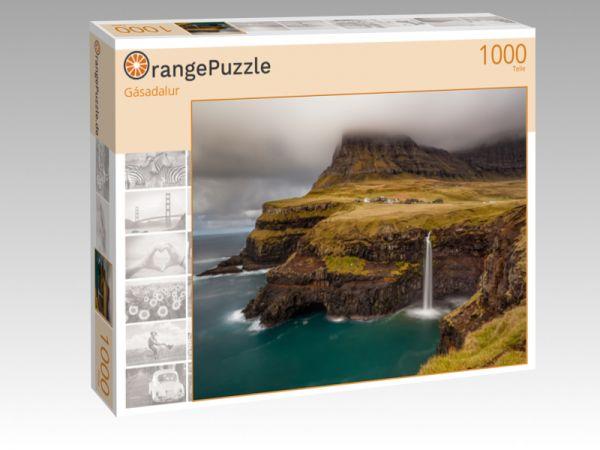"""Puzzle Motiv """"Gásadalur"""" - Puzzle-Schachtel zu 1000 Teile Puzzle"""