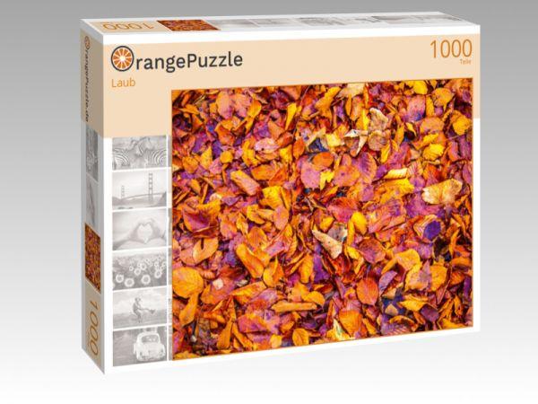 """Puzzle Motiv """"Laub"""" - Puzzle-Schachtel zu 1000 Teile Puzzle"""