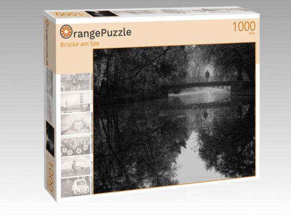 """Puzzle Motiv """"Brücke am See"""" - Puzzle-Schachtel zu 1000 Teile Puzzle"""