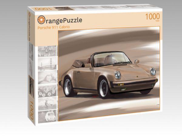 """Puzzle Motiv """"Porsche 911 Cabrio"""" - Puzzle-Schachtel zu 1000 Teile Puzzle"""