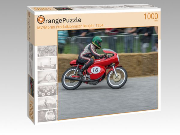 "Puzzle Motiv ""MV/Morini Produtkionracer Baujahr 1954"" - Puzzle-Schachtel zu 1000 Teile Puzzle"