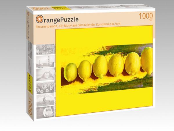 """Puzzle Motiv """"Zitronenparade - Ein Motiv aus dem Kalender Kunstwerke in Acryl"""" - Puzzle-Schachtel zu 1000 Teile Puzzle"""