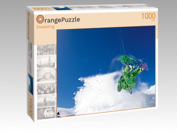 """Puzzle Motiv """"Snowkiting"""" - Puzzle-Schachtel zu 1000 Teile Puzzle"""