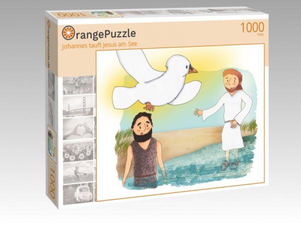 """Puzzle Motiv """"Johannes tauft Jesus am See"""" - Puzzle-Schachtel zu 1000 Teile Puzzle"""
