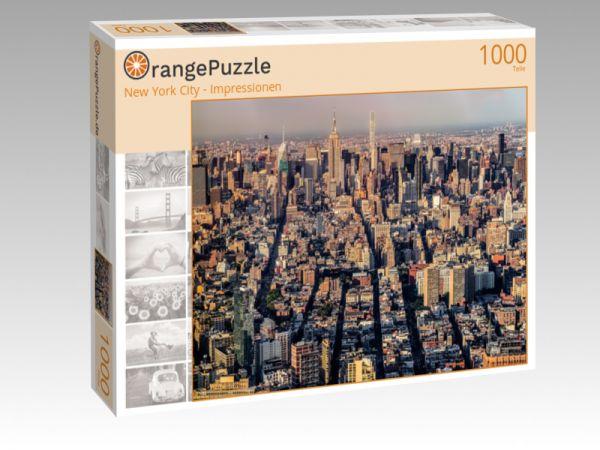 """Puzzle Motiv """"New York City - Impressionen"""" - Puzzle-Schachtel zu 1000 Teile Puzzle"""