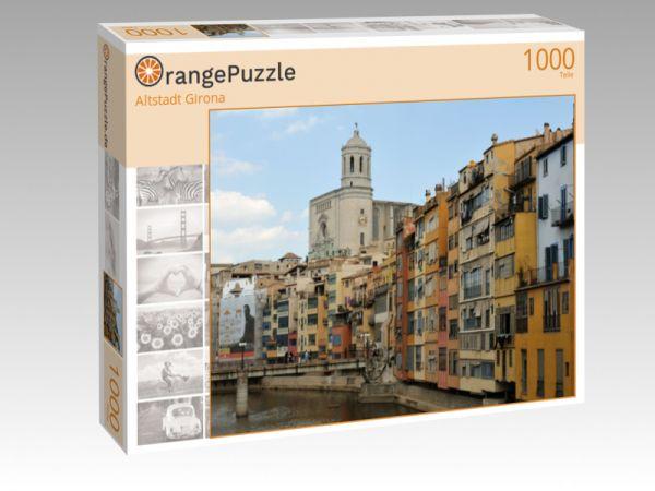 "Puzzle Motiv ""Altstadt Girona"" - Puzzle-Schachtel zu 1000 Teile Puzzle"