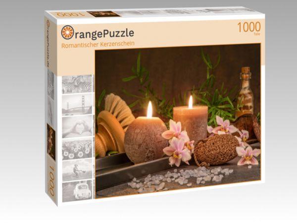 """Puzzle Motiv """"Romantischer Kerzenschein"""" - Puzzle-Schachtel zu 1000 Teile Puzzle"""