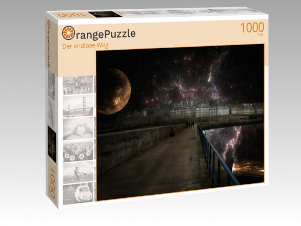 "Puzzle Motiv ""Der endlose Weg"" - Puzzle-Schachtel zu 1000 Teile Puzzle"