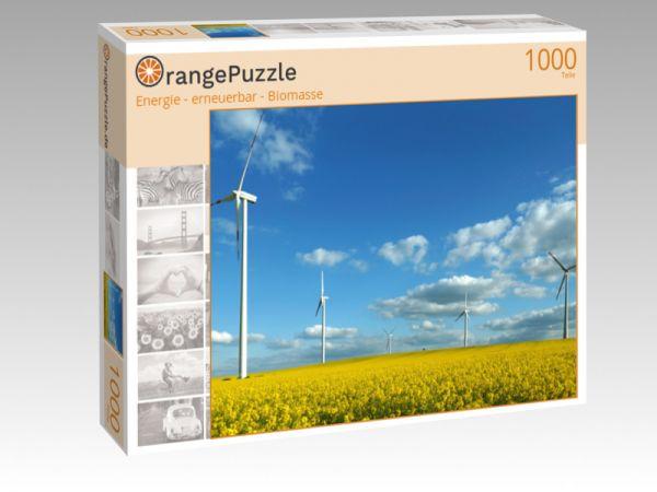 "Puzzle Motiv ""Energie - erneuerbar - Biomasse"" - Puzzle-Schachtel zu 1000 Teile Puzzle"