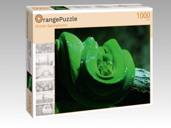 """Puzzle Motiv """"Grüner Baumphyton"""" - Puzzle-Schachtel zu 1000 Teile Puzzle"""