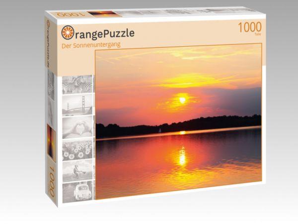 """Puzzle Motiv """"Der Sonnenuntergang"""" - Puzzle-Schachtel zu 1000 Teile Puzzle"""
