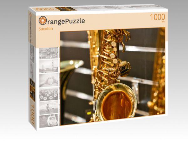 """Puzzle Motiv """"Saxofon"""" - Puzzle-Schachtel zu 1000 Teile Puzzle"""