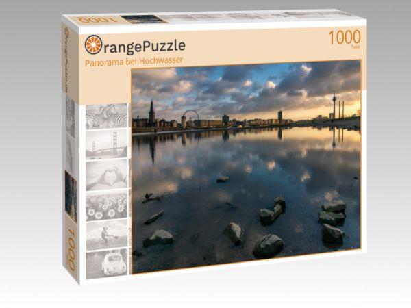 """Puzzle Motiv """"Panorama bei Hochwasser"""" - Puzzle-Schachtel zu 1000 Teile Puzzle"""