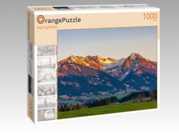 """Puzzle Motiv """"Alpenglühen"""" - Puzzle-Schachtel zu 1000 Teile Puzzle"""