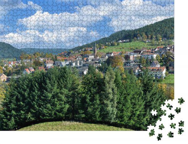 """Puzzle-Motiv """"beliebtes Dorf Baiersbronn im Schwarzwald bei Freudenstadt"""" - Puzzle-Schachtel zu 1000 Teile Puzzle"""