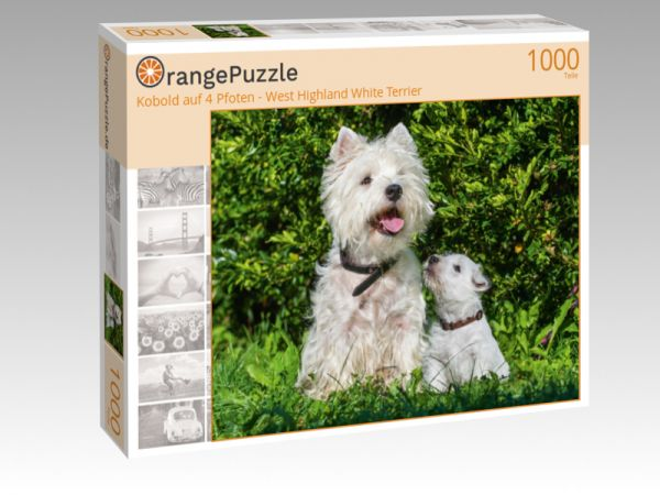 """Puzzle Motiv """"Kobold auf 4 Pfoten - West Highland White Terrier"""" - Puzzle-Schachtel zu 1000 Teile Puzzle"""