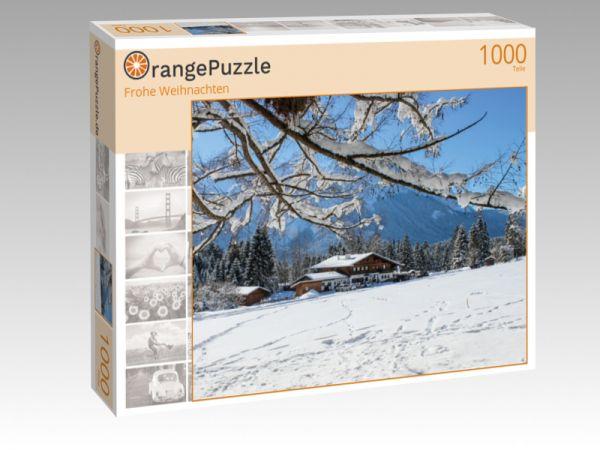 """Puzzle Motiv """"Frohe Weihnachten"""" - Puzzle-Schachtel zu 1000 Teile Puzzle"""
