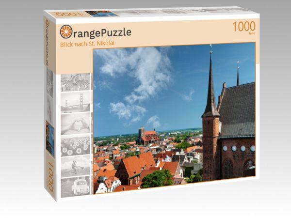 """Puzzle Motiv """"Blick nach St. Nikolai"""" - Puzzle-Schachtel zu 1000 Teile Puzzle"""