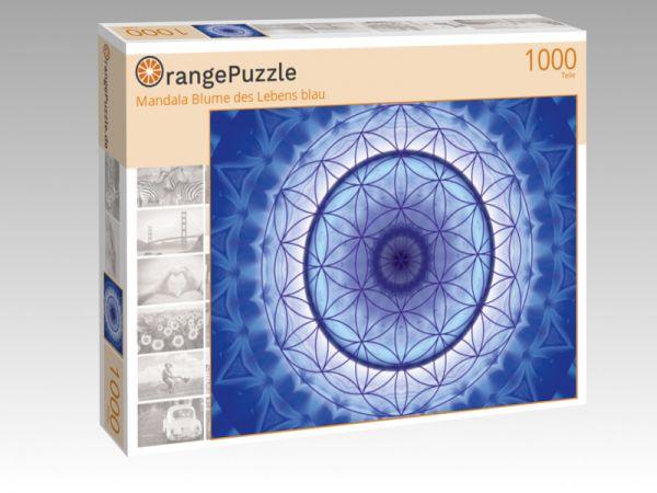 """Puzzle Motiv """"Mandala Blume des Lebens blau"""" - Puzzle-Schachtel zu 1000 Teile Puzzle"""