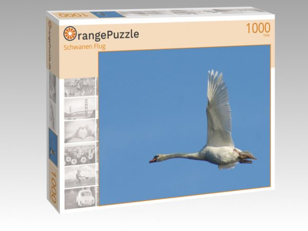 "Puzzle Motiv ""Schwanen Flug"" - Puzzle-Schachtel zu 1000 Teile Puzzle"