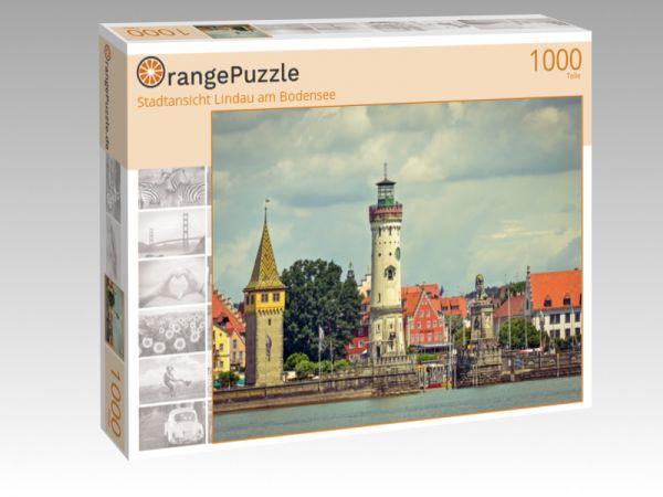 """Puzzle Motiv """"Stadtansicht Lindau am Bodensee"""" - Puzzle-Schachtel zu 1000 Teile Puzzle"""