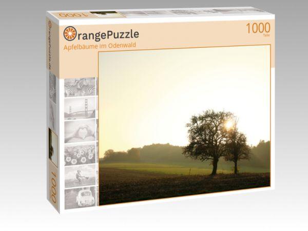 """Puzzle Motiv """"Apfelbäume im Odenwald"""" - Puzzle-Schachtel zu 1000 Teile Puzzle"""