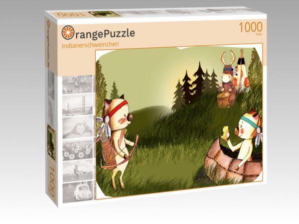 """Puzzle Motiv """"Indianerschweinchen"""" - Puzzle-Schachtel zu 1000 Teile Puzzle"""