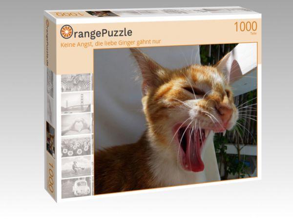 """Puzzle Motiv """"Keine Angst, die liebe Ginger gähnt nur"""" - Puzzle-Schachtel zu 1000 Teile Puzzle"""