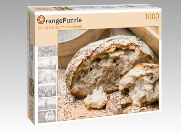 "Puzzle Motiv ""Brot & Kaffee Impressionen"" - Puzzle-Schachtel zu 1000 Teile Puzzle"