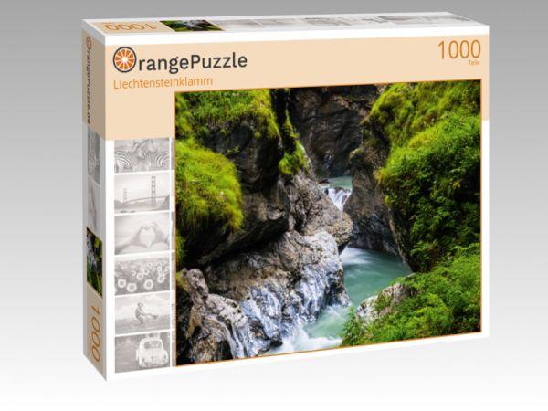 """Puzzle Motiv """"Liechtensteinklamm"""" - Puzzle-Schachtel zu 1000 Teile Puzzle"""