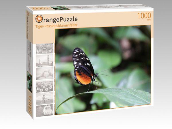 "Puzzle Motiv ""Tiger-Passionsblumenfalter"" - Puzzle-Schachtel zu 1000 Teile Puzzle"
