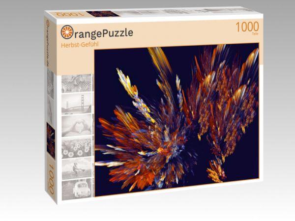 """Puzzle Motiv """"Herbst-Gefühl"""" - Puzzle-Schachtel zu 1000 Teile Puzzle"""