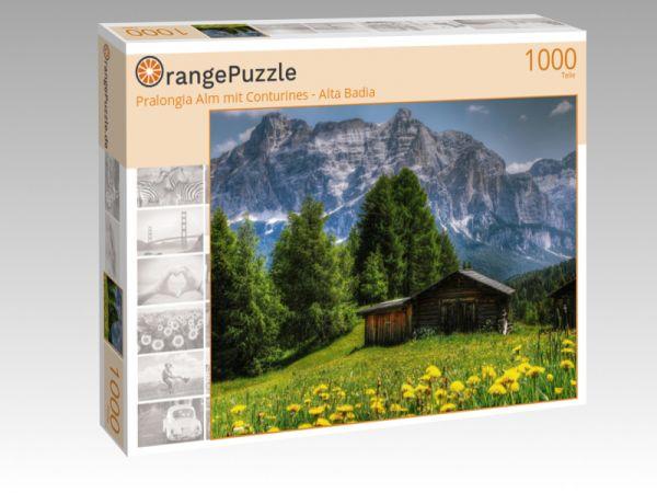 """Puzzle Motiv """"Pralongia Alm mit Conturines - Alta Badia"""" - Puzzle-Schachtel zu 1000 Teile Puzzle"""