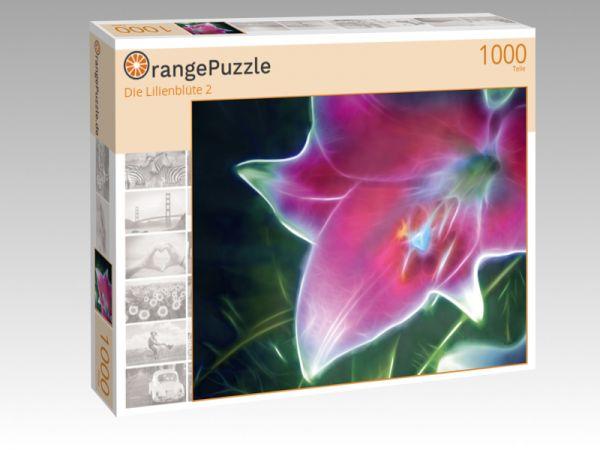 """Puzzle Motiv """"Die Lilienblüte 2"""" - Puzzle-Schachtel zu 1000 Teile Puzzle"""