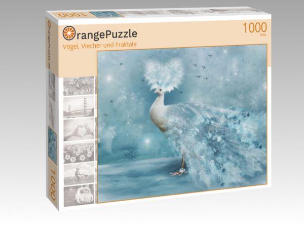 "Puzzle Motiv ""Vögel, Viecher und Fraktale"" - Puzzle-Schachtel zu 1000 Teile Puzzle"