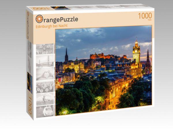 """Puzzle Motiv """"Edinburgh bei Nacht"""" - Puzzle-Schachtel zu 1000 Teile Puzzle"""