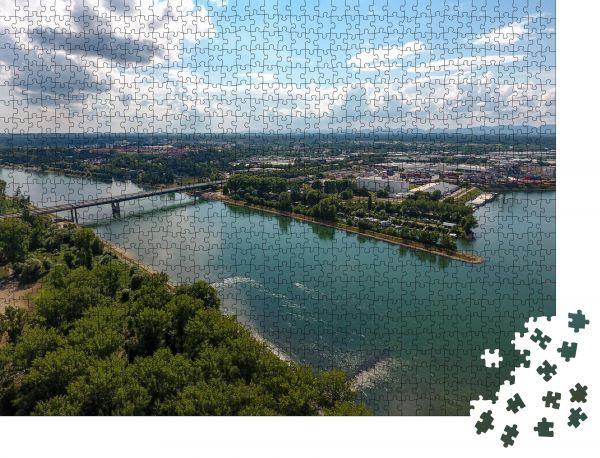 """Puzzle-Motiv """"rhein germersheim"""" - Puzzle-Schachtel zu 1000 Teile Puzzle"""
