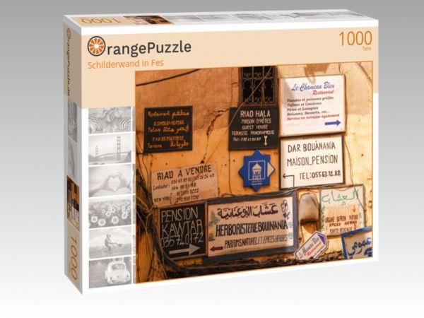 """Puzzle Motiv """"Schilderwand in Fes"""" - Puzzle-Schachtel zu 1000 Teile Puzzle"""