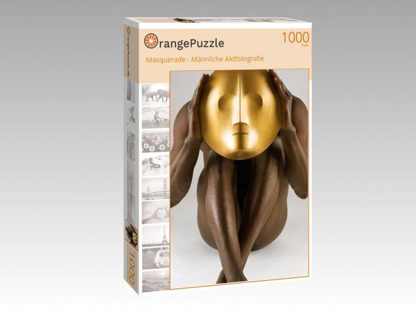 """Puzzle Motiv """"Masquerade - Männliche Aktfotografie"""" - Puzzle-Schachtel zu 1000 Teile Puzzle"""