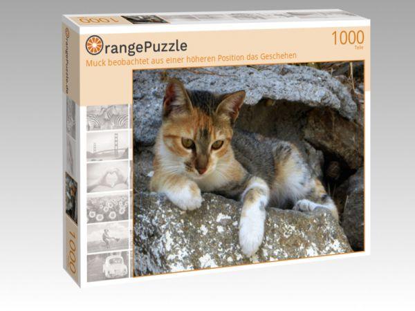"""Puzzle Motiv """"Muck beobachtet aus einer höheren Position das Geschehen"""" - Puzzle-Schachtel zu 1000 Teile Puzzle"""