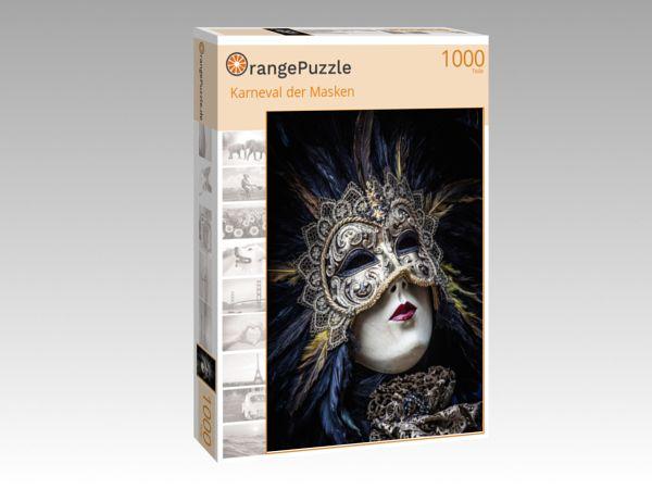 """Puzzle Motiv """"Karneval der Masken"""" - Puzzle-Schachtel zu 1000 Teile Puzzle"""