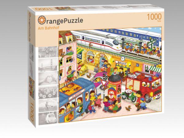 """Puzzle Motiv """"Am Bahnhof"""" - Puzzle-Schachtel zu 1000 Teile Puzzle"""