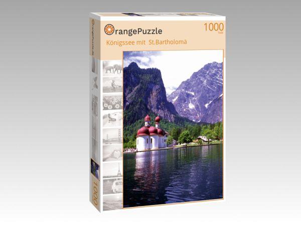 "Puzzle Motiv ""Königssee mit  St.Bartholomä"" - Puzzle-Schachtel zu 1000 Teile Puzzle"