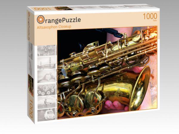 """Puzzle Motiv """"Altsaxophon Closeup"""" - Puzzle-Schachtel zu 1000 Teile Puzzle"""
