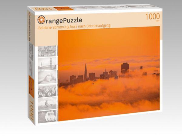 """Puzzle Motiv """"Goldene Stimmung kurz nach Sonnenaufgang"""" - Puzzle-Schachtel zu 1000 Teile Puzzle"""
