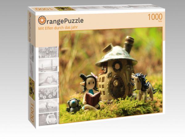 """Puzzle Motiv """"Mit Elfen durch das Jahr"""" - Puzzle-Schachtel zu 1000 Teile Puzzle"""