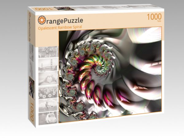 "Puzzle Motiv ""Opalescent Rainbow Spiral"" - Puzzle-Schachtel zu 1000 Teile Puzzle"