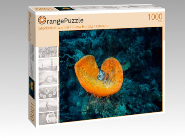 "Puzzle Motiv ""Glockenschwamm • Playa Hundu • Curaçao"" - Puzzle-Schachtel zu 1000 Teile Puzzle"