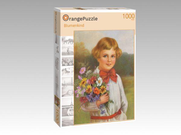 "Puzzle Motiv ""Blumenkind"" - Puzzle-Schachtel zu 1000 Teile Puzzle"